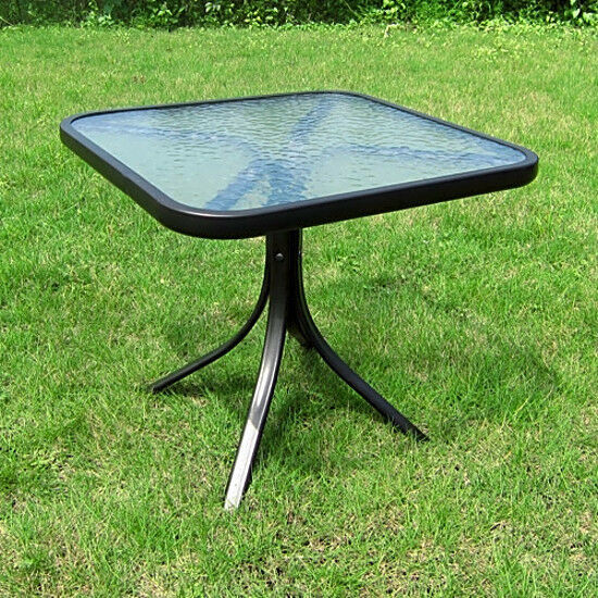 Best ideas about Small Patio Tables . Save or Pin Small Square Table Outdoor Glass Top Side Patio Metal Now.