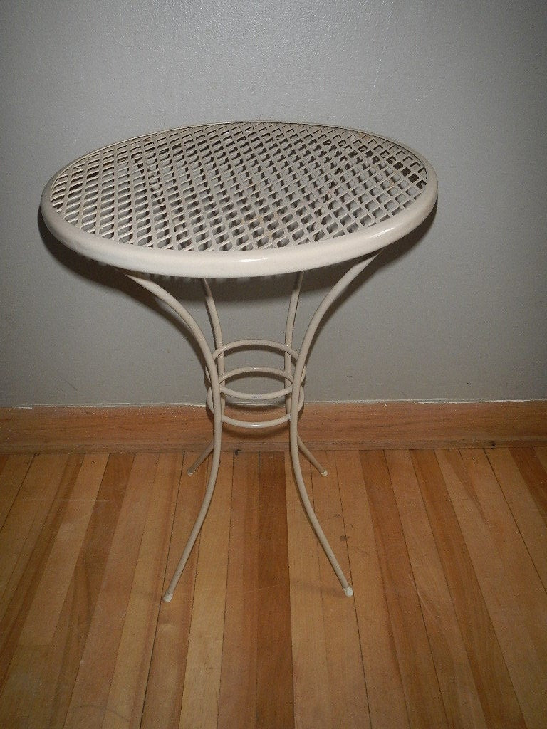 Best ideas about Small Patio Tables . Save or Pin Vintage Small Round Metal Patio Table Side End by Now.
