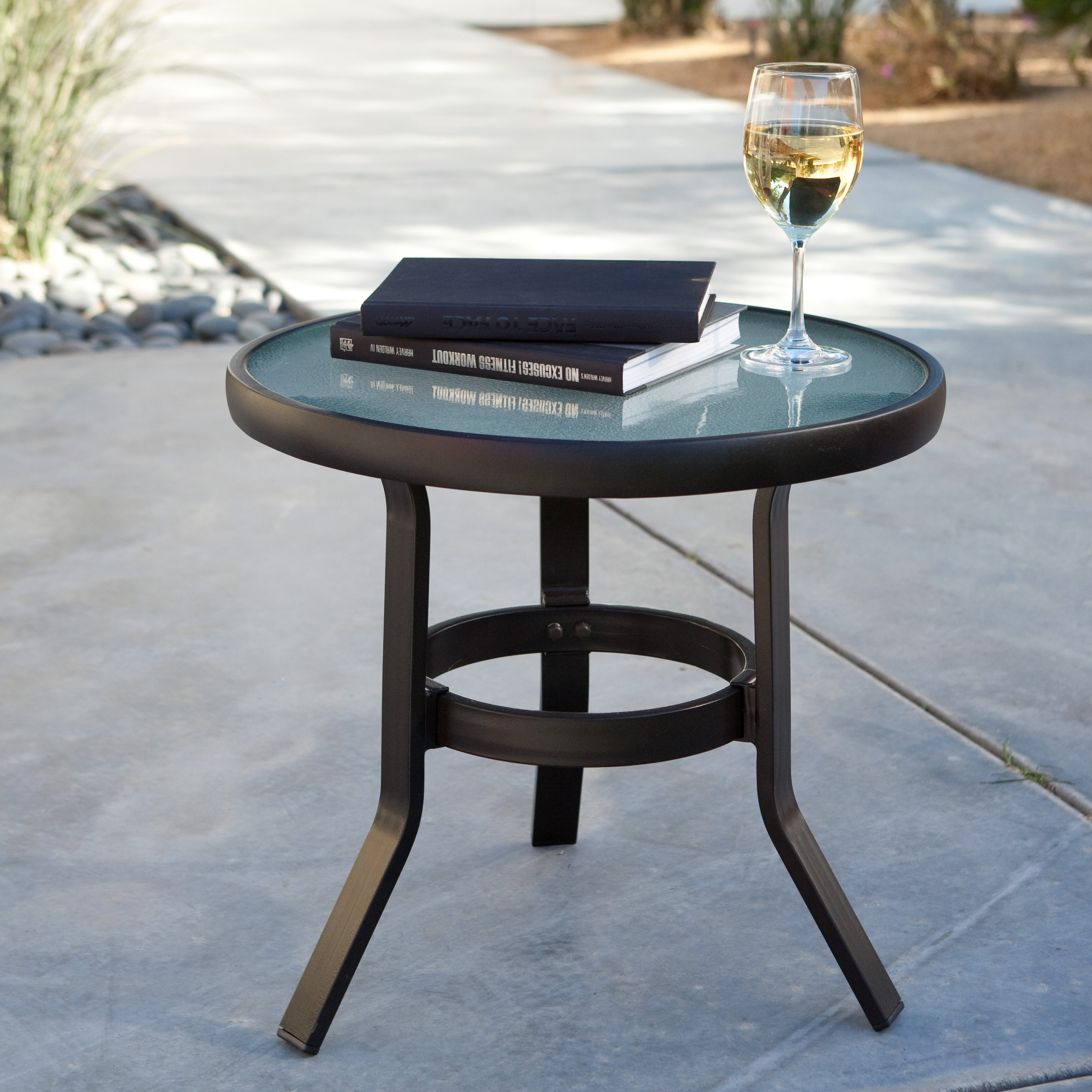 Best ideas about Small Patio Tables . Save or Pin Coral Coast 20 in Patio Side Table Patio Accent Tables Now.