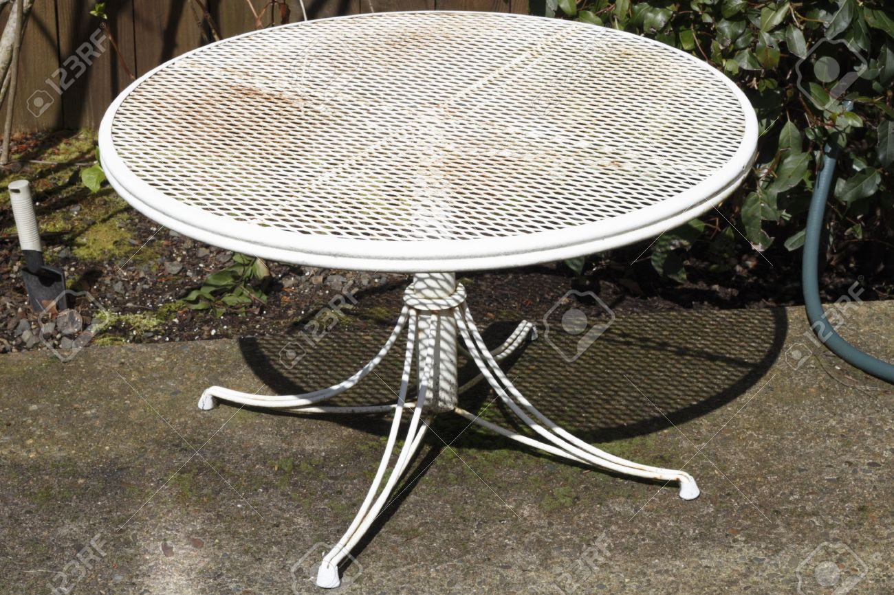 Best ideas about Small Patio Tables . Save or Pin Collection In White Patio Table Small Round Metal Tables Now.