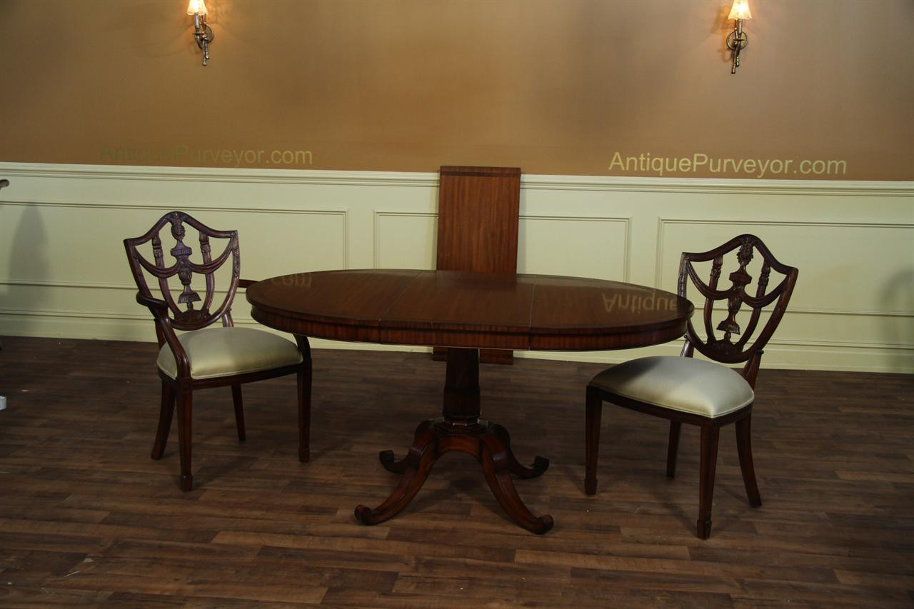 Best ideas about Small Round Dining Table . Save or Pin Small 44 inch expandable round dining table with leaves Now.