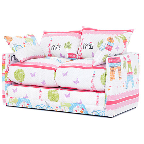 Best ideas about Sofa Beds For Kids . Save or Pin Paris City Print Children s Bedroom Sofa Bed Fold Out Now.