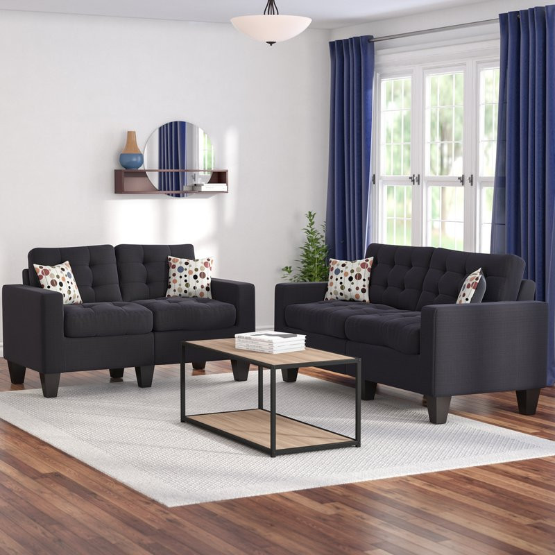 Best ideas about Sofa Set Designs For Small Living Room . Save or Pin Zipcode Design Amia 2 Piece Living Room Set & Reviews Now.