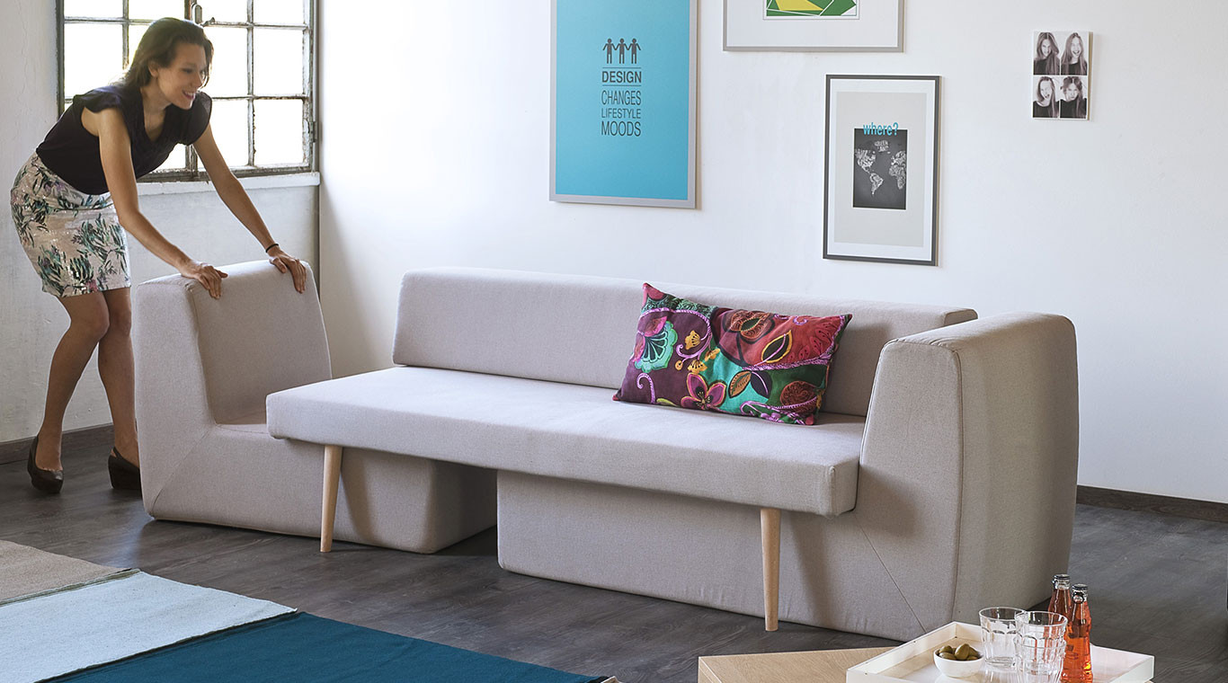 Best ideas about Sofa Set Designs For Small Living Room . Save or Pin Small living room This modular sofa will be perfect for Now.