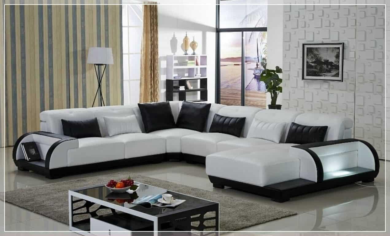 Best ideas about Sofa Set Designs For Small Living Room . Save or Pin Sofá de Canto para Sala 145 fotos e ideias Total Now.