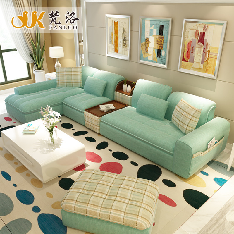 Best ideas about Sofa Set Designs For Small Living Room . Save or Pin living room furniture modern L shaped fabric sectional Now.