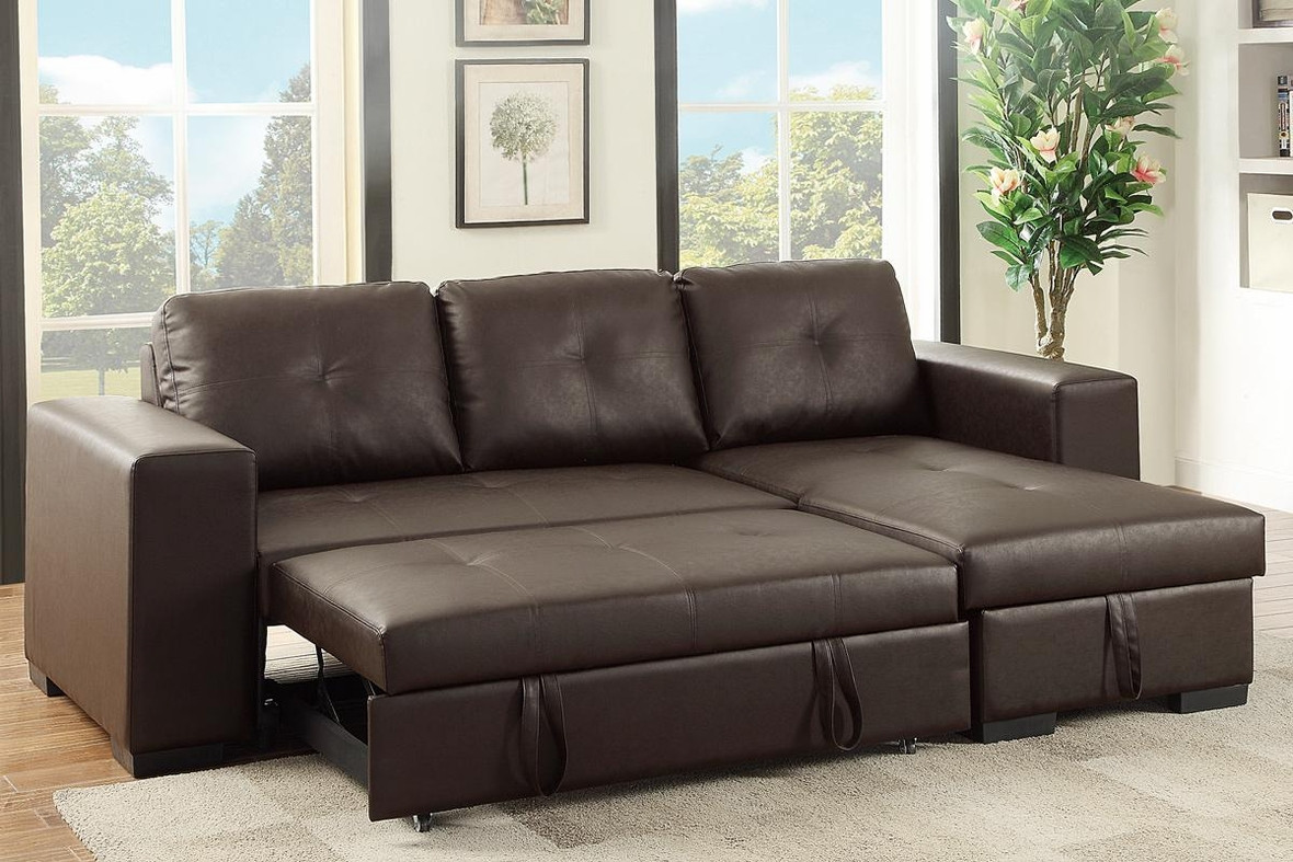Best ideas about Sofa Sleeper Sectional . Save or Pin Brown Leather Sectional Sleeper Sofa Steal A Sofa Now.