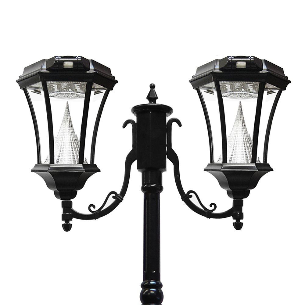Best ideas about Solar Lamp Post Lights . Save or Pin Gama Sonic Victorian Solar Lamp Post Double Black Now.