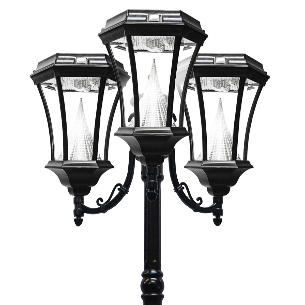 Best ideas about Solar Lamp Post Lights . Save or Pin Victorian Solar Lamp Series – Triple Lamp Post GS 94T Now.
