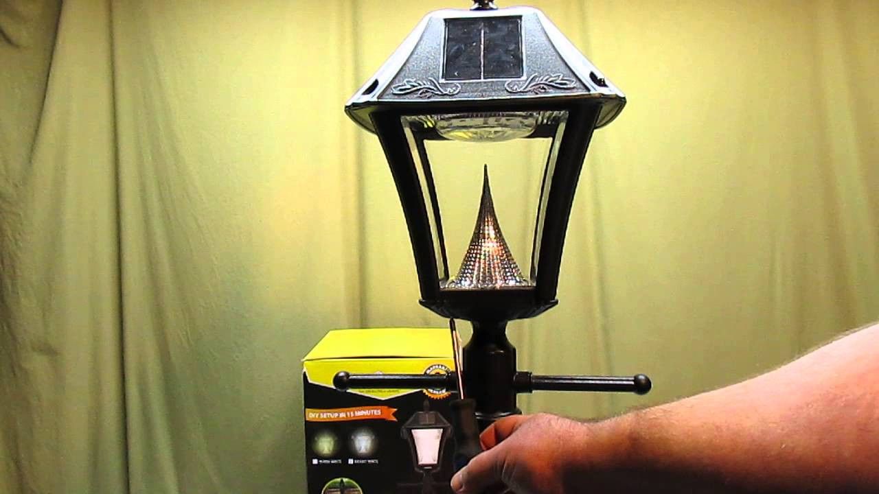 Best ideas about Solar Lamp Post Lights . Save or Pin Gama Sonic Baytown II Outdoor Black Resin Solar Post Light Now.