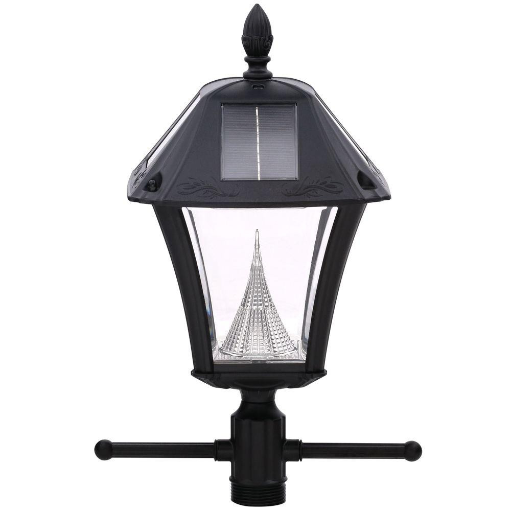 Best ideas about Solar Lamp Post Lights . Save or Pin Gama Sonic Baytown II Solar Black Resin Outdoor Post Light Now.