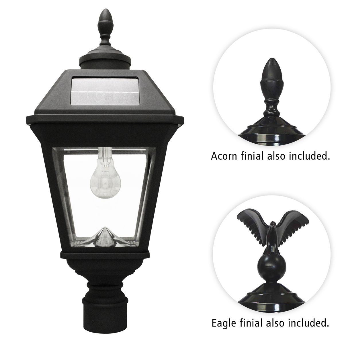 Best ideas about Solar Lamp Post Lights . Save or Pin Gama Sonic Imperial Bulb Solar Post Light Now.