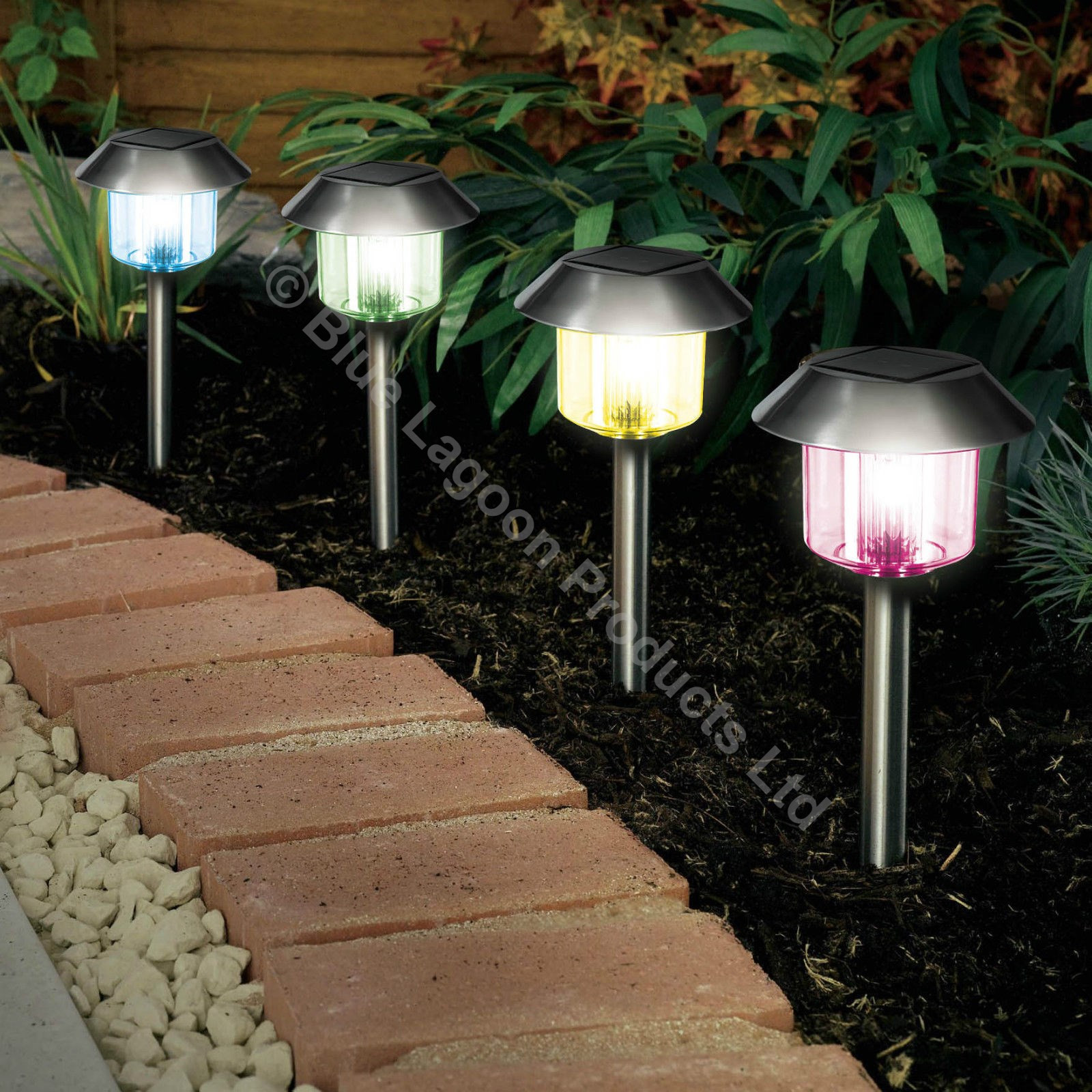 Best ideas about Solar Powered Patio Lighting . Save or Pin 12 x Colour Changing Solar Power Light LED Post Outdoor Now.