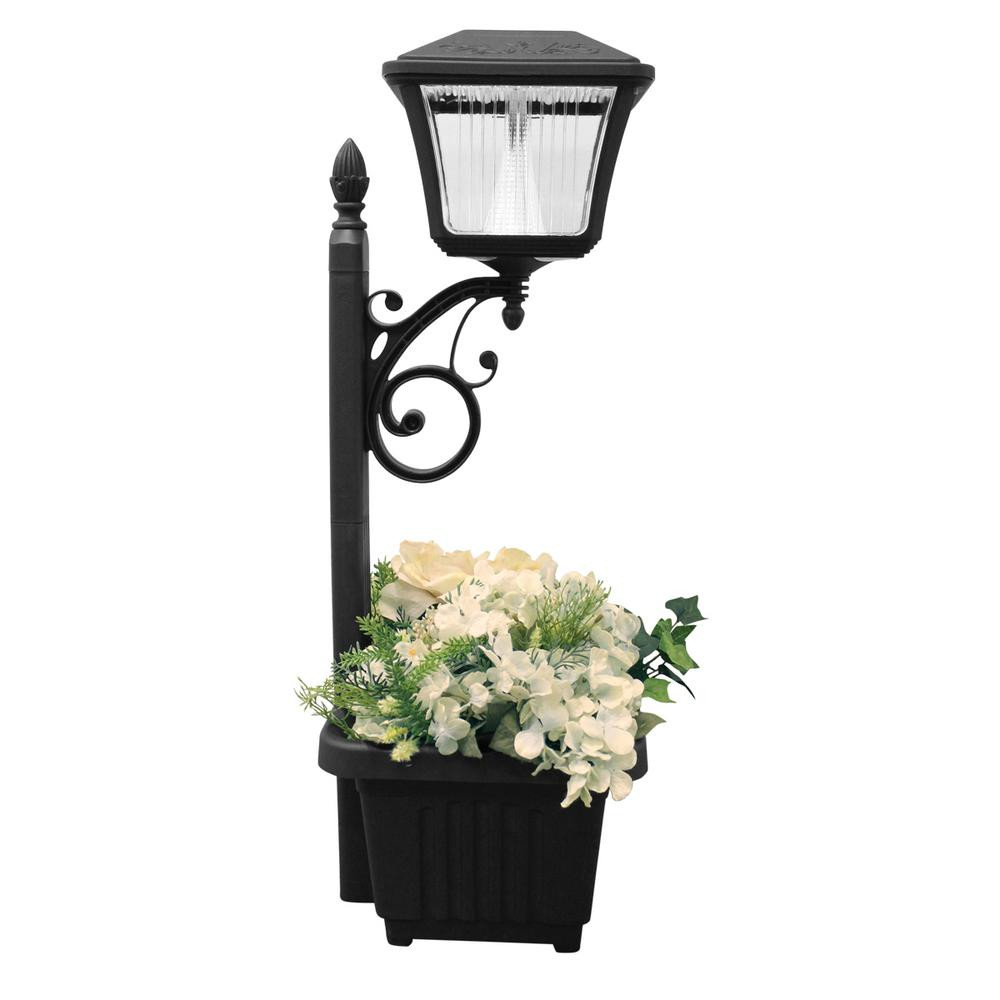 Best ideas about Solar Powered Patio Lighting . Save or Pin Gama Sonic Solar Powered Black LED Path and Garden Light Now.