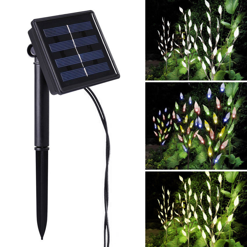 Best ideas about Solar Powered Patio Lighting . Save or Pin 60 LED 3 Branches Tree Twig Leaf Solar Powered Outdoor Now.