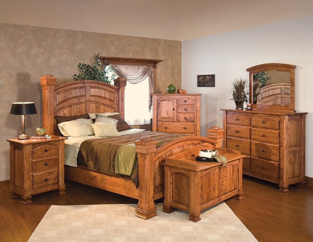 Best ideas about Solid Wood Bedroom Sets . Save or Pin Luxury Amish Rustic Cherry Bedroom Set Solid Wood Full Now.