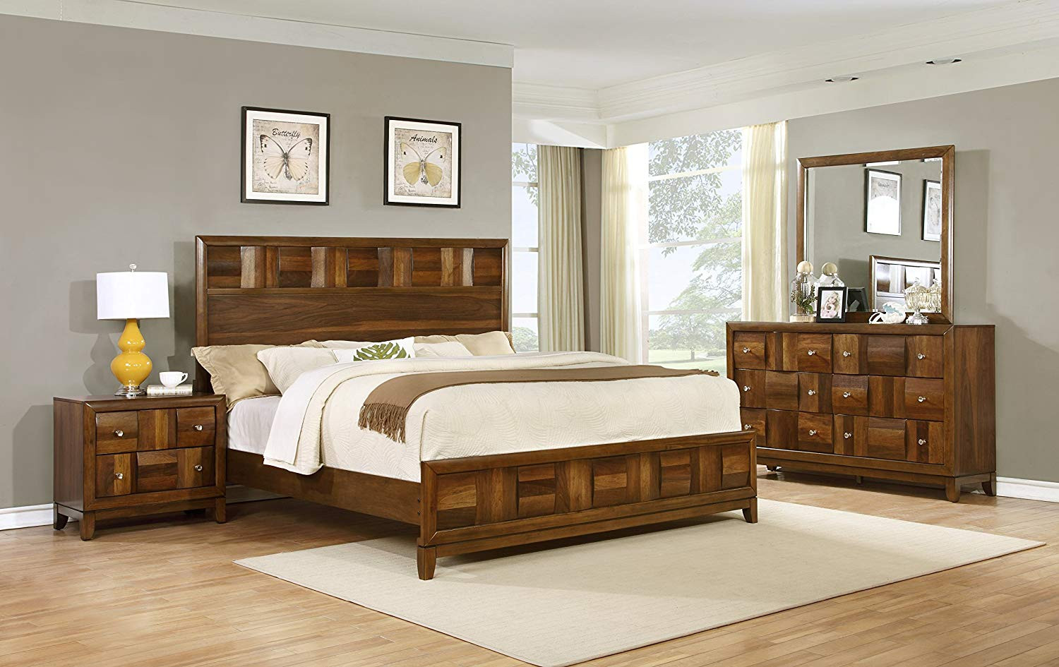 Best ideas about Solid Wood Bedroom Sets . Save or Pin Roundhill Furniture Calais Solid Wood Construction Bedroom Now.
