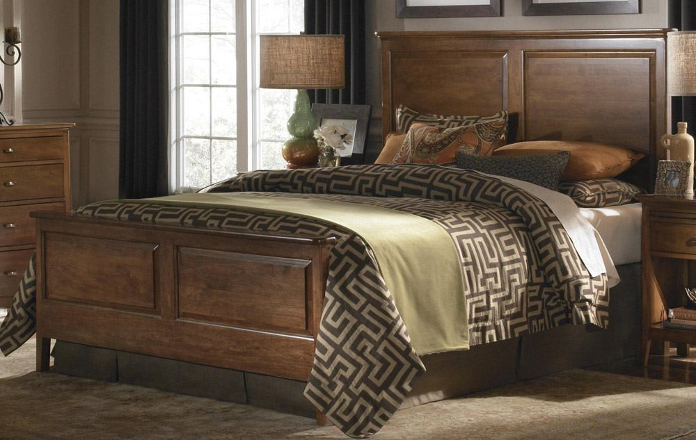 Best ideas about Solid Wood Bedroom Sets . Save or Pin Kincaid Cherry Park Solid Wood Panel Bedroom Set Now.