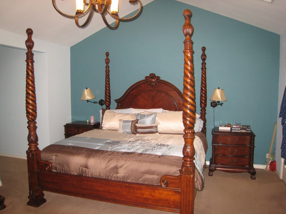 Best ideas about Solid Wood Bedroom Sets . Save or Pin Thomasville Solid Wood King Bedroom set 5 piece plus Now.