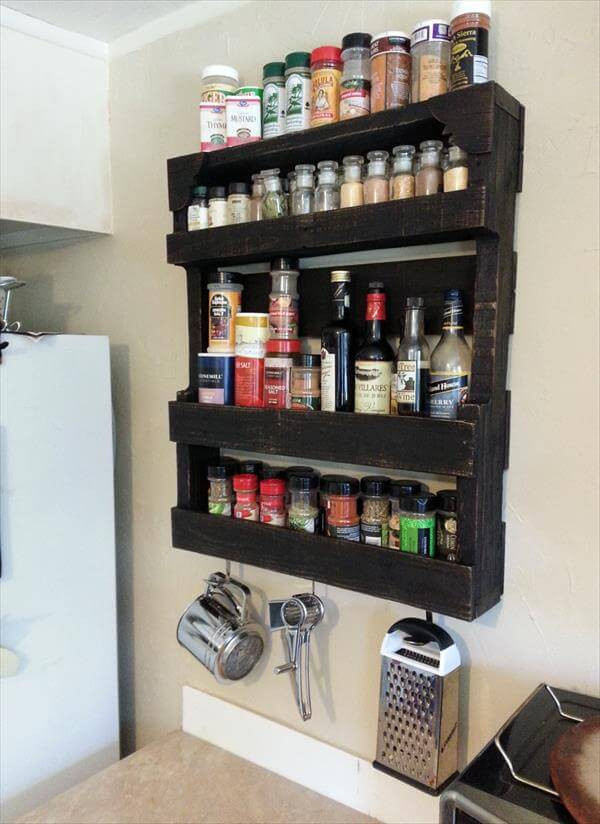 Best ideas about Spice Racks DIY . Save or Pin Pallet Spice Rack for Kitchen Now.