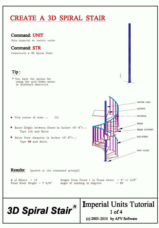 Best ideas about Spiral Staircase Calculator . Save or Pin 3D Stairs in AutoCAD Stair program for AutoCAD Now.