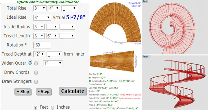 Best ideas about Spiral Staircase Calculator . Save or Pin Spiral Stair Calculator line Now.
