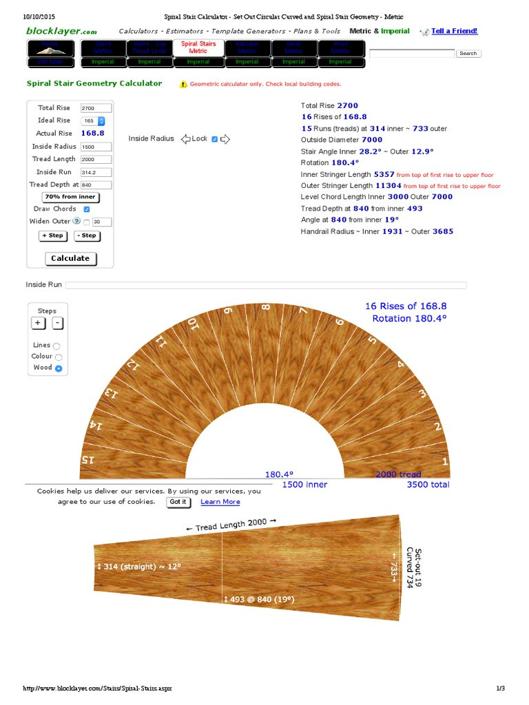 Best ideas about Spiral Staircase Calculator . Save or Pin Spiral Stair Calculator Set Out Circu Ved and Spiral Now.