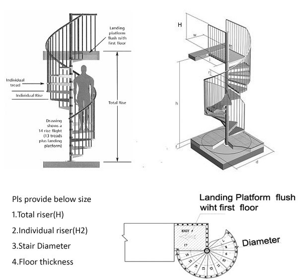 Best ideas about Spiral Staircase Dimensions . Save or Pin Sell Spiral Staircase Wrought Iron Spiral Staircase Now.