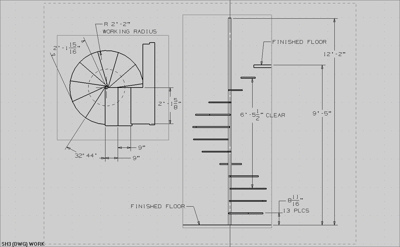 Best ideas about Spiral Staircase Dimensions . Save or Pin house plans with circular staircase Now.