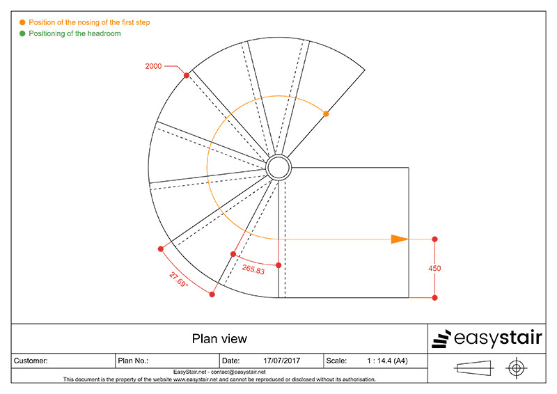 Best ideas about Spiral Staircase Dimensions . Save or Pin Calculate the dimensions of your spiral staircase Now.
