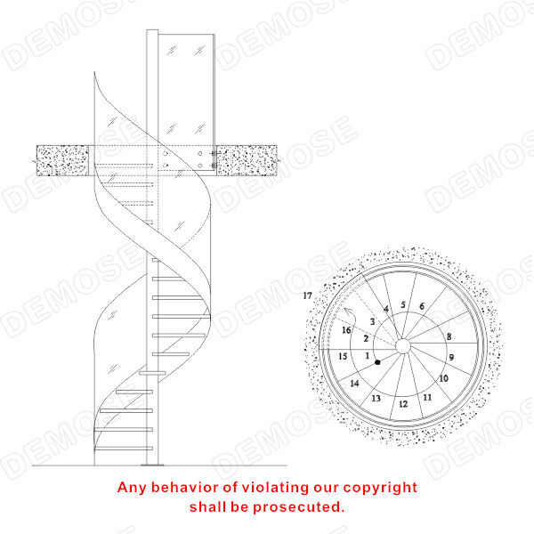 Best ideas about Spiral Staircase Dimensions . Save or Pin Steel Glass Spiral Staircase Dimensions Buy Spiral Now.