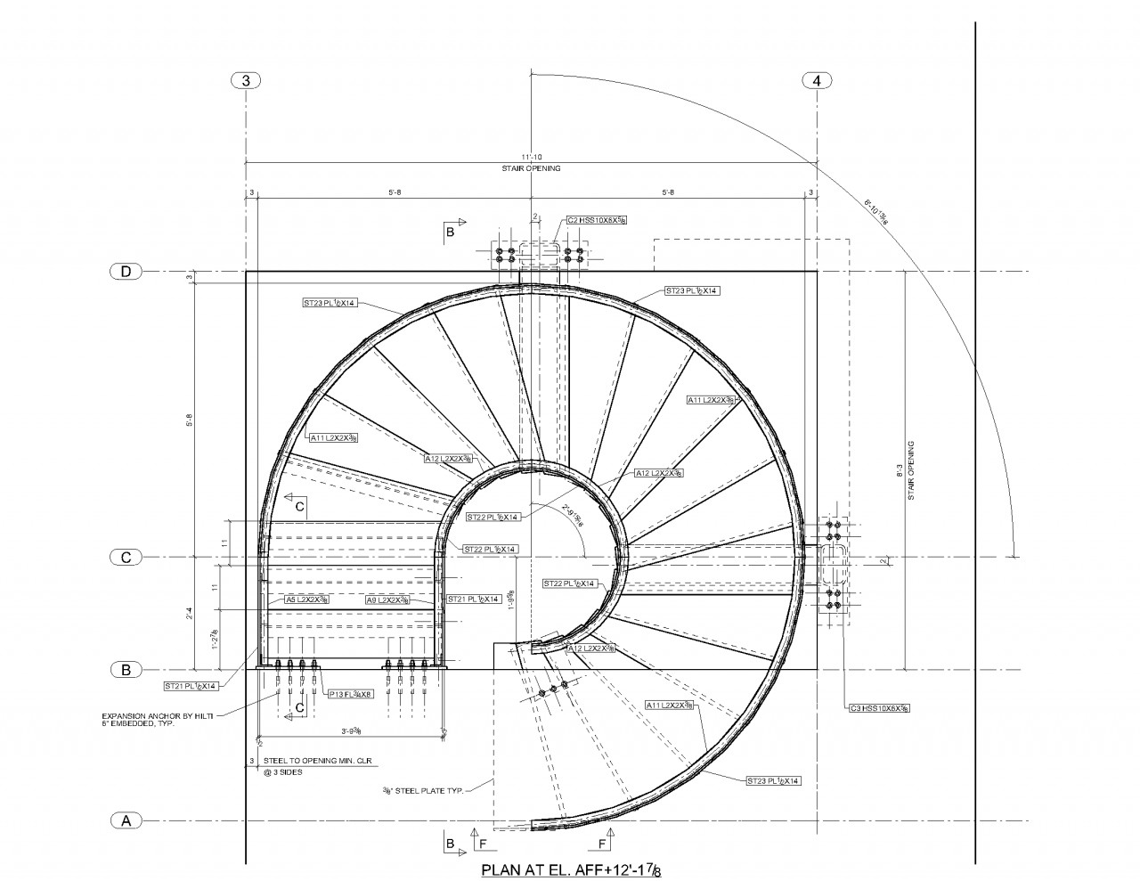 Best ideas about Spiral Staircase Dimensions . Save or Pin Pin Spiral Stair Plans Stairs Crafted In Wood on Pinterest Now.