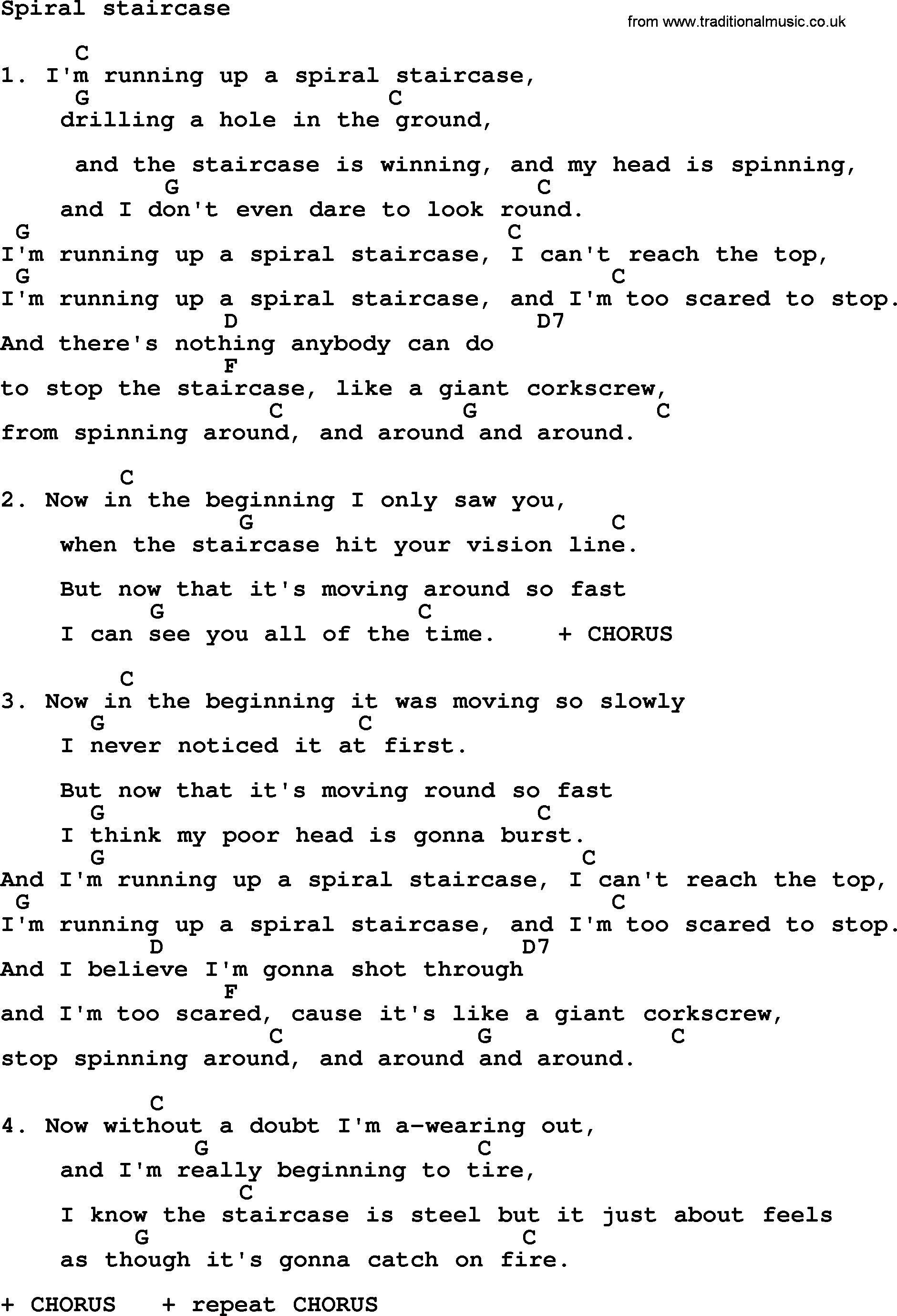 Best ideas about Spiral Staircase Songs . Save or Pin Spiral Staircase by Ralph McTell lyrics and chords Now.