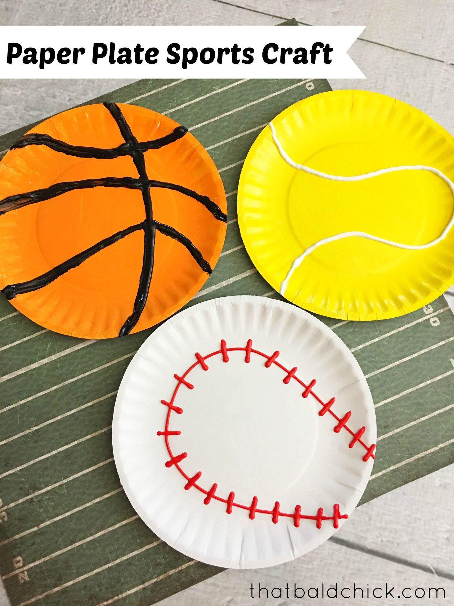 Best ideas about Sports Crafts For Kids . Save or Pin Paper Plate Sports Craft at thatbaldchick Now.