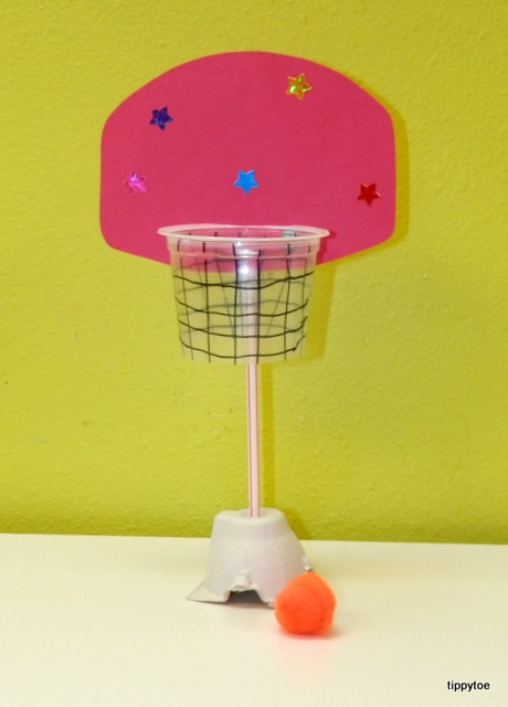 Best ideas about Sports Crafts For Kids . Save or Pin Tippytoe Crafts Mini Basketball Hoop Now.