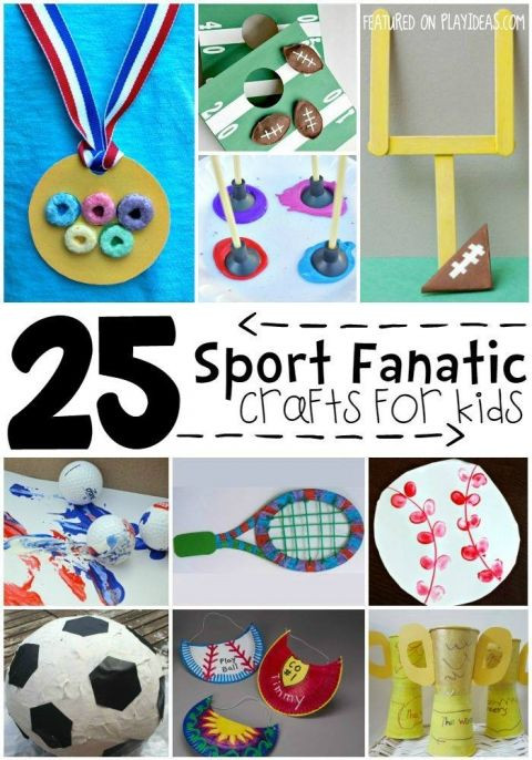 Best ideas about Sports Crafts For Kids . Save or Pin 25 Sports Themed Crafts for Kids Summer Program Now.