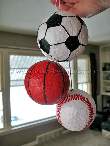 Best ideas about Sports Crafts For Kids . Save or Pin Sports Ball Ornaments Crafts by Amanda Now.