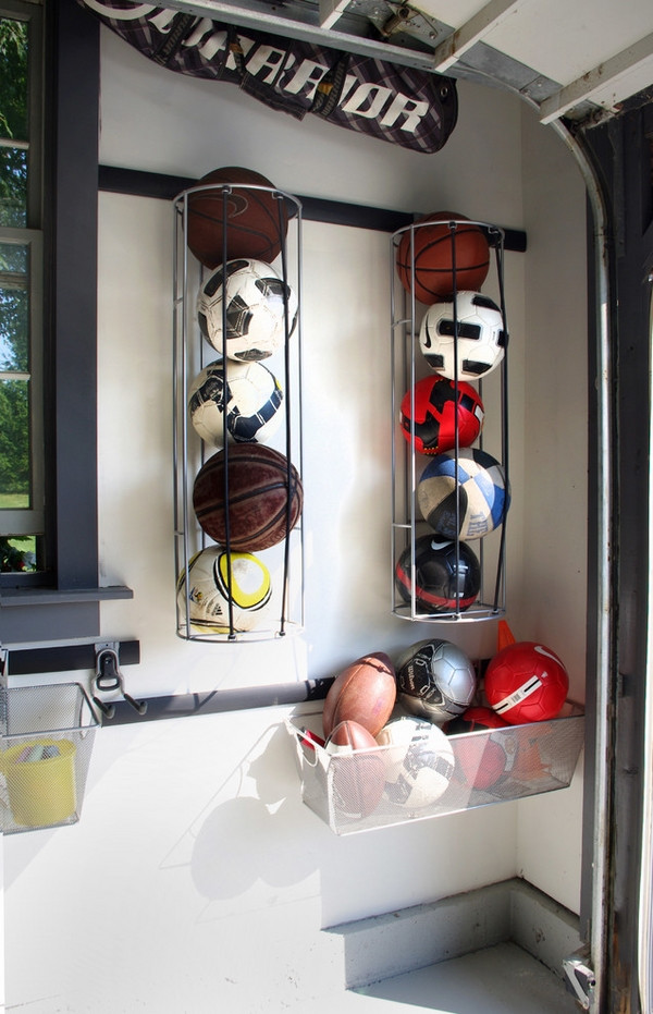 Best ideas about Sports Equipment Garage Storage . Save or Pin Overhead garage storage – ideas for your vertical space Now.
