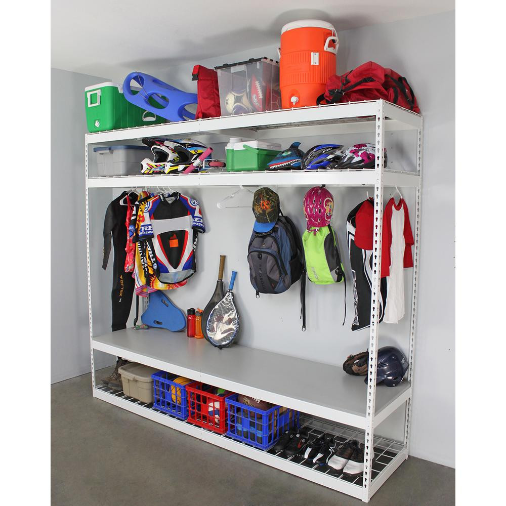 Best ideas about Sports Equipment Garage Storage . Save or Pin SafeRacks 24 in D x 96 in H x 84 in W 4 Shelf Now.