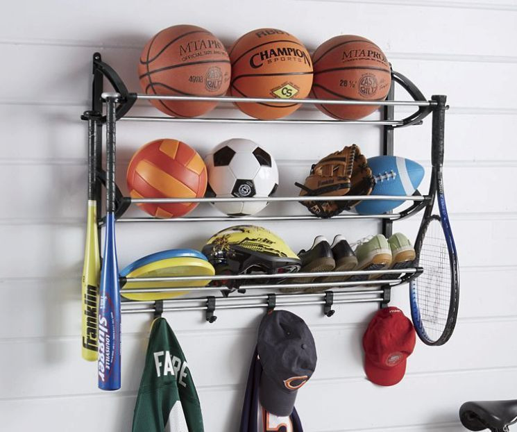 Best ideas about Sports Equipment Garage Storage . Save or Pin Sports Equipment Storage Rack Garage Organizer Station Now.