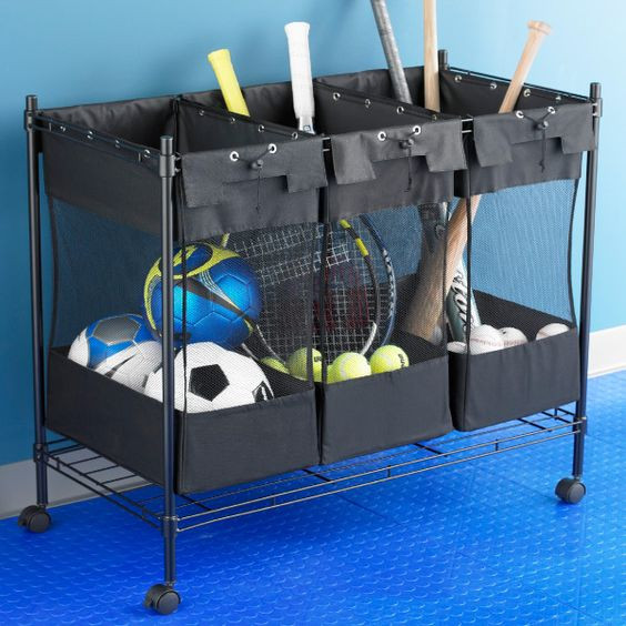 Best ideas about Sports Equipment Garage Storage . Save or Pin Storage bins Sports equipment and The container on Pinterest Now.