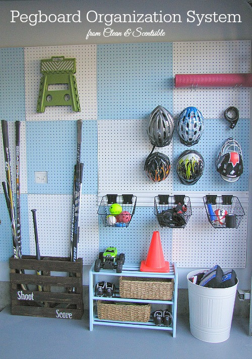 Best ideas about Sports Equipment Garage Storage . Save or Pin Garage Pegboard Organizer Now.