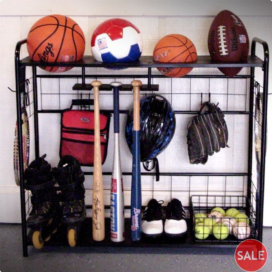 Best ideas about Sports Equipment Garage Storage . Save or Pin SPORTS GARAGE ORGANIZER EQUIPMENT STORAGE RACK GEAR SHOES Now.