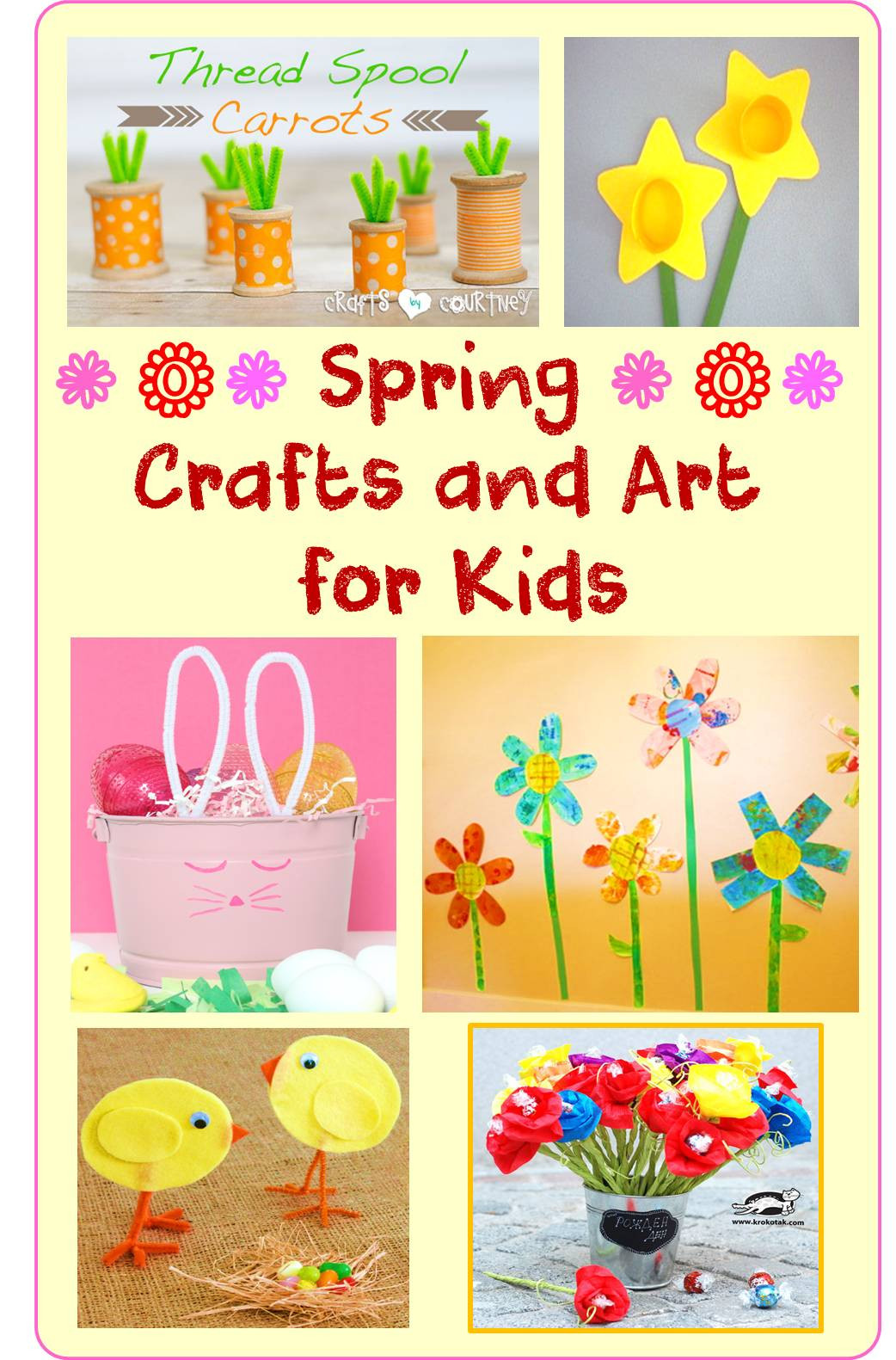 Best ideas about Spring Arts And Crafts For Kids . Save or Pin Spring Crafts and Art for Kids Now.