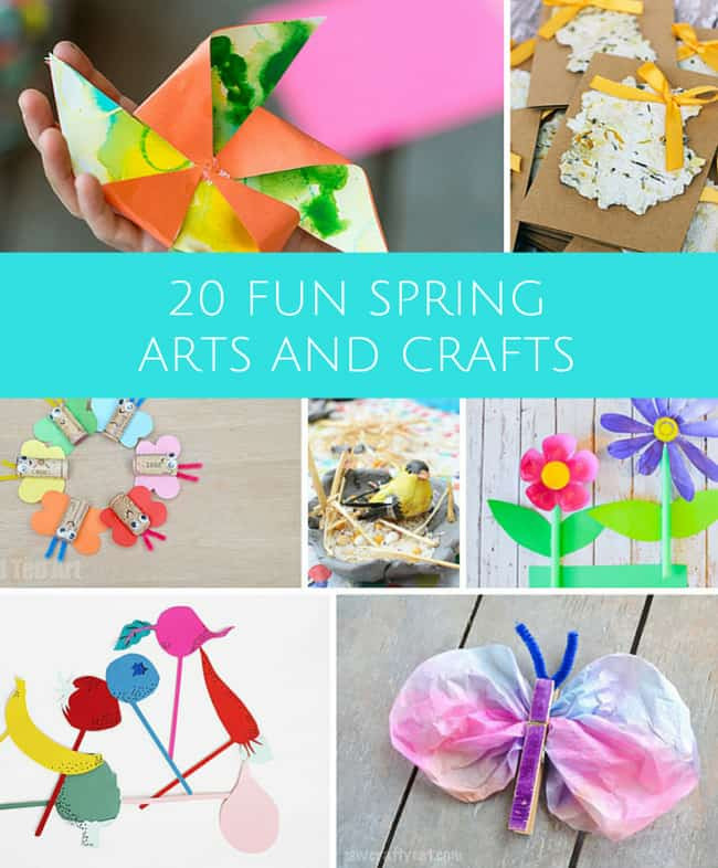 Best ideas about Spring Arts And Crafts For Kids . Save or Pin hello Wonderful 20 FUN ARTS AND CRAFTS PROJECTS TO Now.