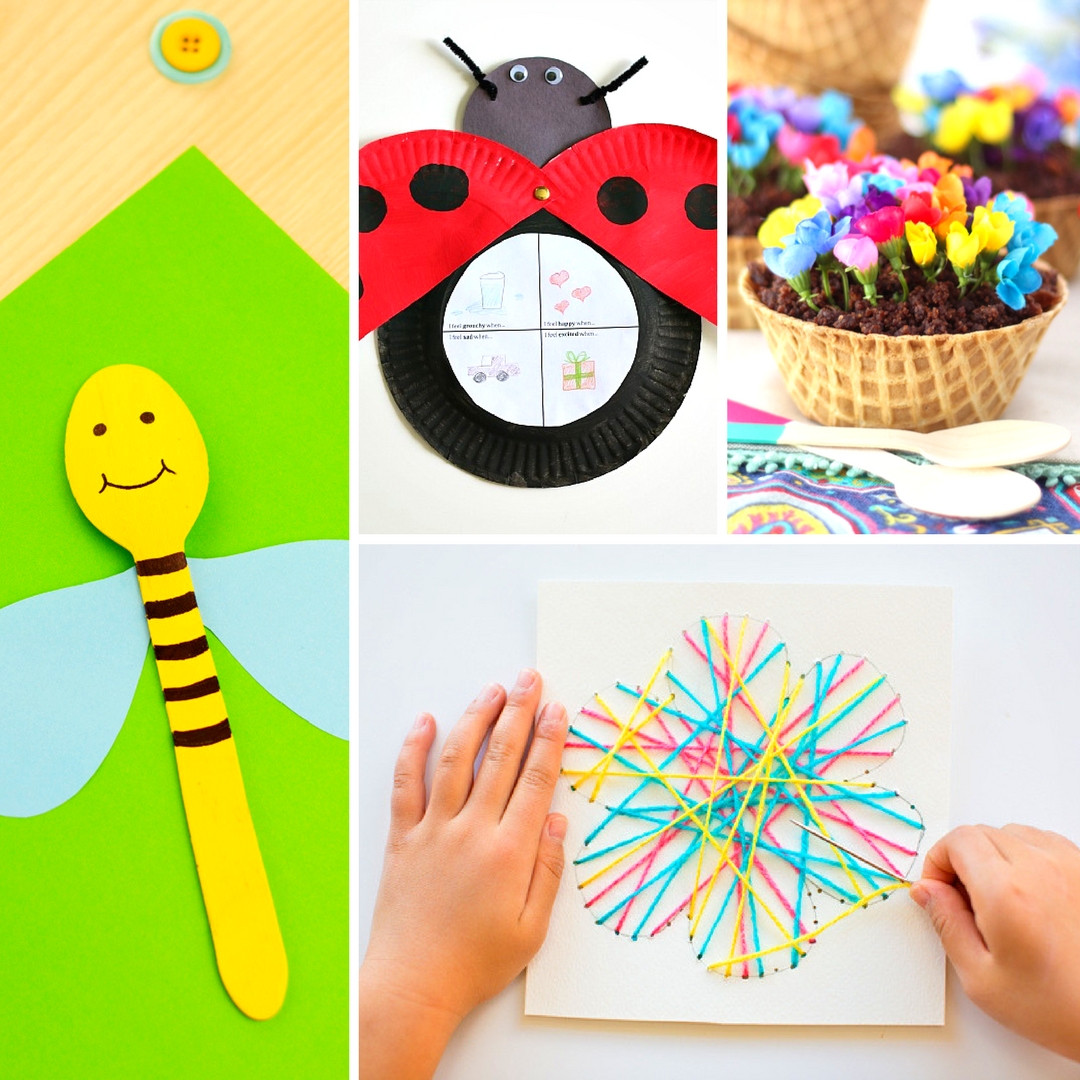 Best ideas about Spring Craft For Kids . Save or Pin 20 Fun and Adorable Spring Crafts for Kids Mum In The Now.