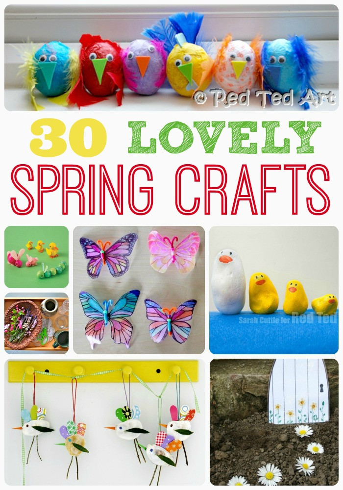 Best ideas about Spring Craft For Kids . Save or Pin Spring Craft Ideas Red Ted Art s Blog Now.