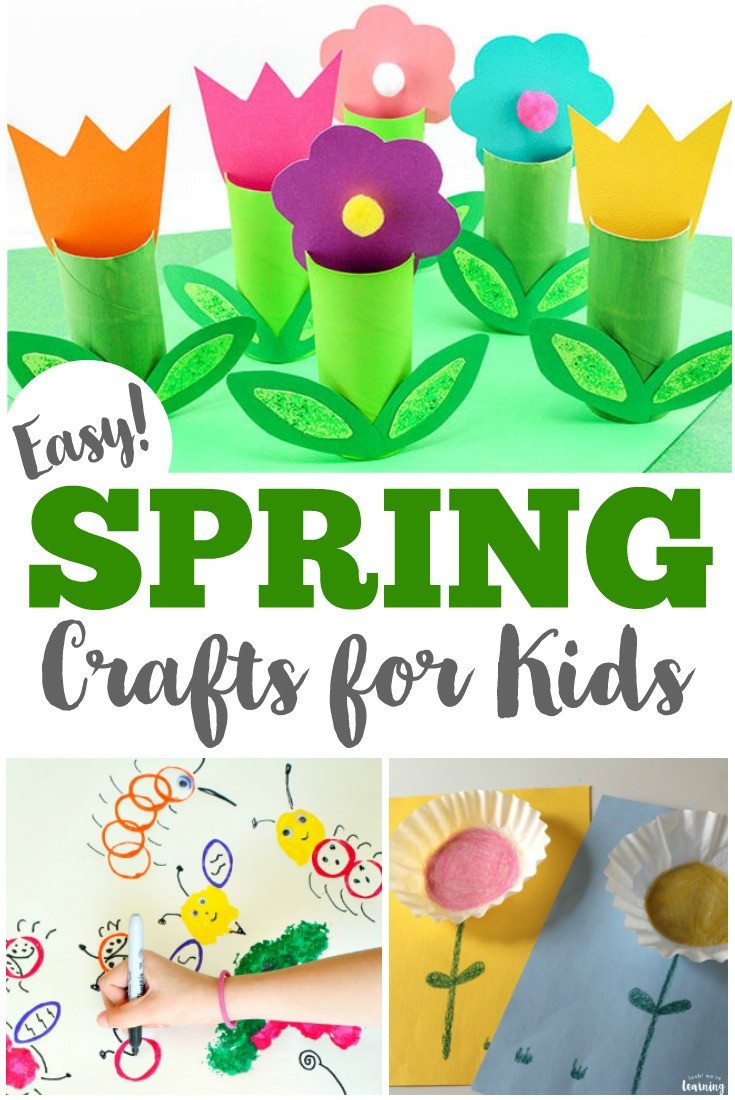 Best ideas about Spring Craft For Kids . Save or Pin 75 Easy Spring Crafts for Kids Now.