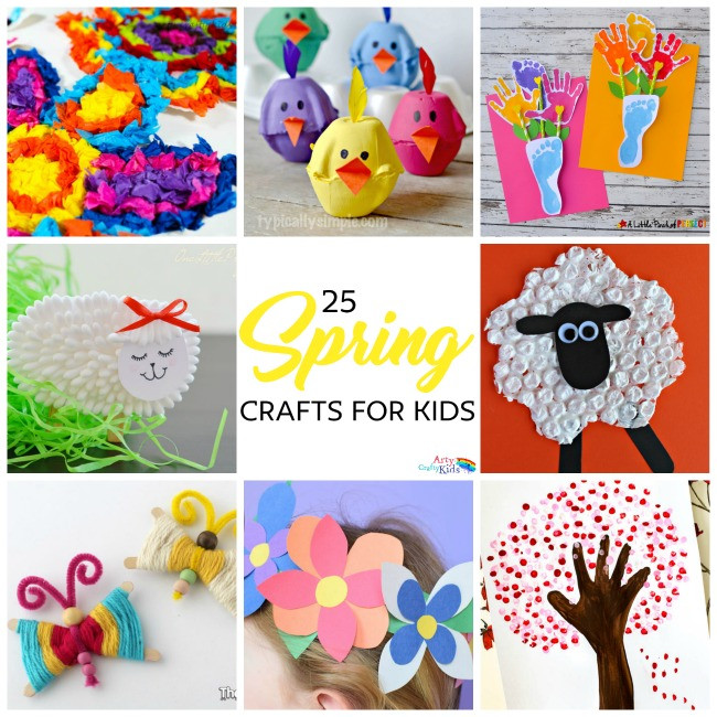 Best ideas about Spring Craft For Kids . Save or Pin Easy Spring Crafts for Kids Now.