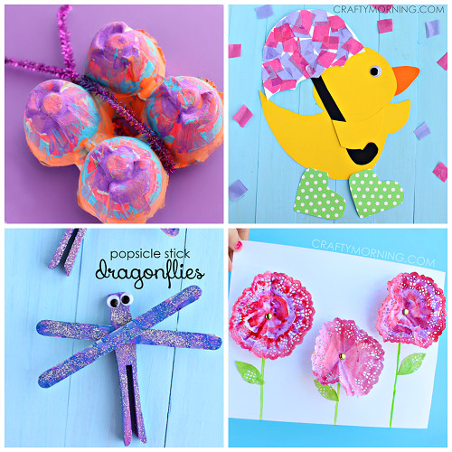 Best ideas about Spring Craft For Kids . Save or Pin Beautiful Spring Crafts for Kids to Create Crafty Morning Now.